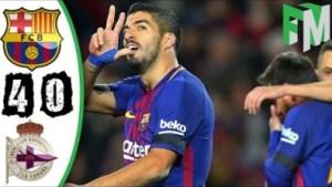 Video: Barcelona vs Deportivo La Coruna 4-0 - Highlights & Goals - 17 December 2017